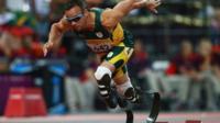 Six time Paralympic gold medallist Oscar Pistorius