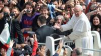 Pope Francis in St Peter's Square