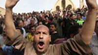 Clashes outside Cairo's main cathedral