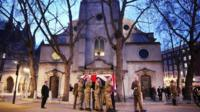 Preparations ahead of funeral of Baroness Thatcher