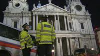 Police outside St Paul's Cathedral