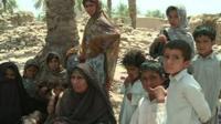 Family made homeless by Pakistan earthquake