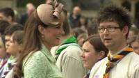 Duchess of Cambridge meeting scouts