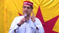 Haroon Bilour at a political rally