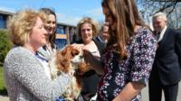 The Duchess of Cambridge at Willows Primary School
