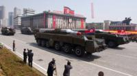 Musudan missiles were displayed during a military parade in Pyongyang last year