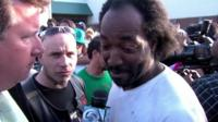 Charles Ramsey speaking to reporters