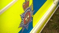 Derbyshire Police crest on car