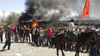 Protest at Kumtor mine