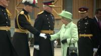 The Queen visit Woolwich barracks