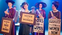 Suffragettes from CBBC's Horrible Histories.
