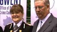 Former Gwent Chief Constable Carmel Napier and Gwent Police and Crime Commissioner Ian Johnston