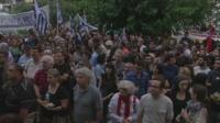 Protests over closure of Greece state television
