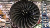 The Rolls Royce XWB engine