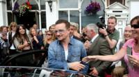 Bono leaves Dalkey