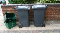 Recycling bins in Harrow