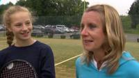 Karen Ross, friend of Andy Murray from Wimbledon