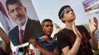 Supporters of Mohammed Morsi rally in Cairo