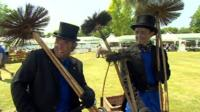 Royal chimney sweeps dressed for the occasion