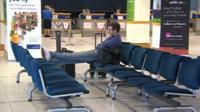 Man in Durham Tees Valley Airport