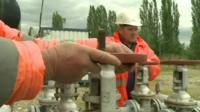 Oil workers in Turkey