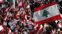 Lebanese flags - file photo