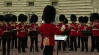 The Royal Guards at Buckingham Palace