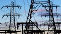 Electricity pylons near Edinburgh