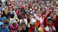 Garment factory workers pretesting against low wages