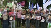 Israelis protesting after 104 Palestinian prisoners were released part of the Middle-East peace process