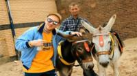 Rapper with donkeys