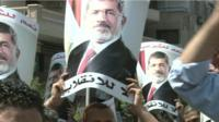 Pro-Morsi supporters were out protesting in anger