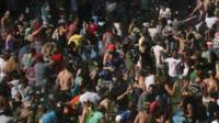 People take part in the huge water fight in Seattle