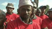 Car workers on strike in South Africa
