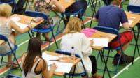 students sitting exams