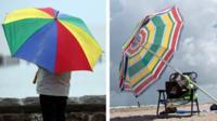 Two umbrellas