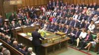 David Cameron addresses the House of Commons