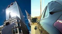 Skyscraper + car