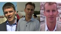 James Reynolds, Rupert Wingfield-Hayes and Tom Burridge