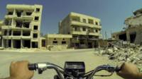Damaged buildings in Syria