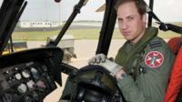 Prince William in Sea King cockpit