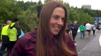 Mel C at Great North Run