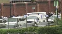 Emergency vehicles outside Navy Yard