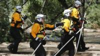 Rescue teams in Colorado