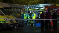 The gas leak scene at Hedge End, near Southampton