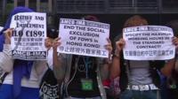 Protest outside Hong Kong court