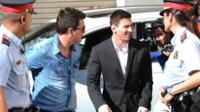 Lionel Messi arrives at court