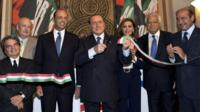 Silvio Berlusconi opening new Forza Italia HQ in Rome (19 Sept. 2013)