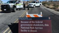 Sign saying Joshua Tree National Park is closed