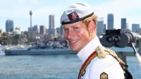 Prince Harry attends the 2013 International Fleet Review in Sydney, Australia